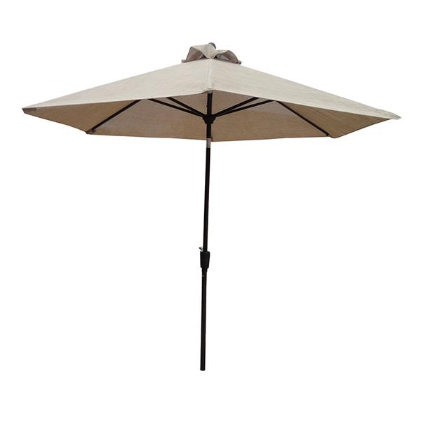 Oakland Living Bali Vented 9-ft Umbrella with Push Button Tilt and Crank - Beige