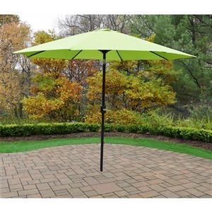 Oakland Living 9-ft Umbrella with Crank and Tilt System - Green and Black