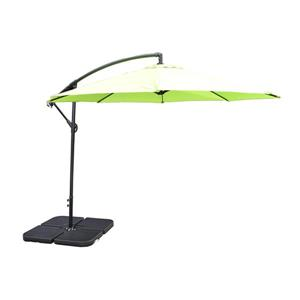 Oakland Living Cantilever 10-ft Umbrella with Fillable Weights and Black Stand - Lime Green