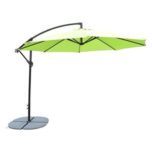 Oakland Living Cantilever 10-ft Umbrella with Fillable Weights and Gray Stand- Lime Green