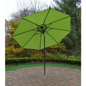 Oakland Living 9-ft Umbrella with Crank and Tilt System - Green and Brown