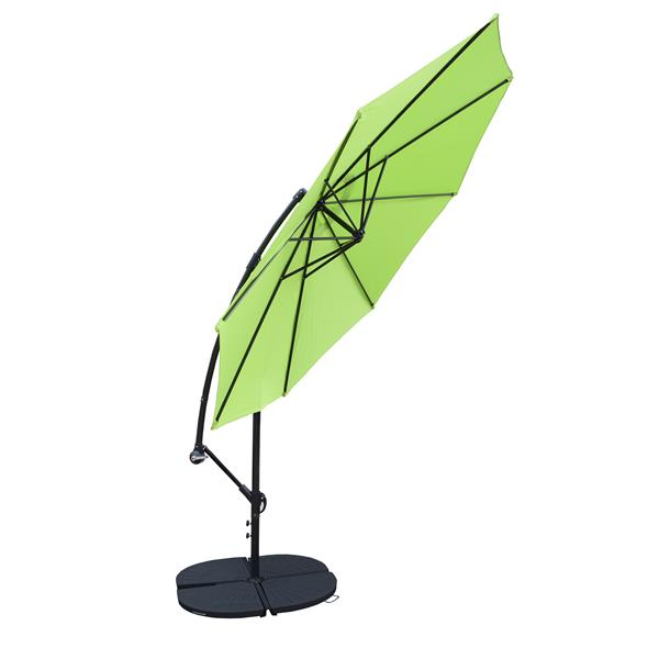 Oakland Living Cantilever 10-ft Umbrella with Fillable Weights - Lime Green