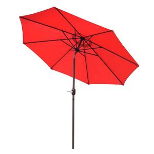 Oakland Living 9-ft Umbrella with Crank and Tilt System - Red and Brown