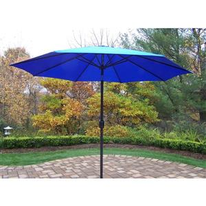 Oakland Living 9-ft Umbrella with Crank and Tilt System - Blue and Black