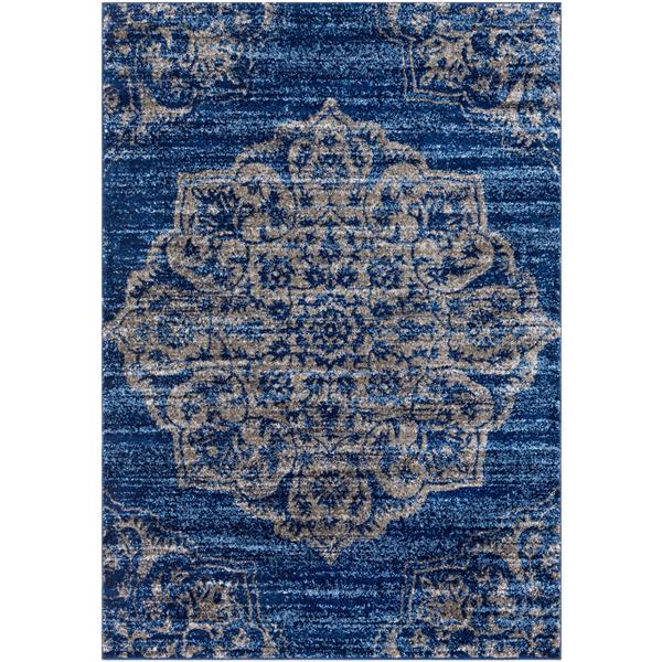 Surya Baylee Transitional Area Rug - 5-ft 3-in x 7-ft 6-in - Rectangular - Navy