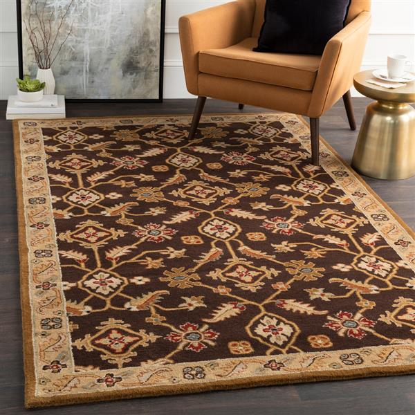 Surya Caesar Traditional Area Rug - 6-ft x 9-ft - Rectangular - Dark Brown