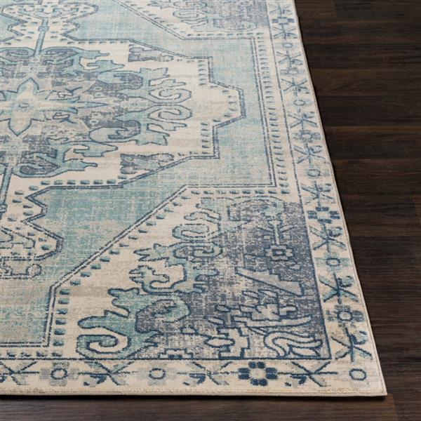 Surya Bohemian Updated Traditional Area Rug - 9-ft x 13-ft 1-in - Rectangular - Teal