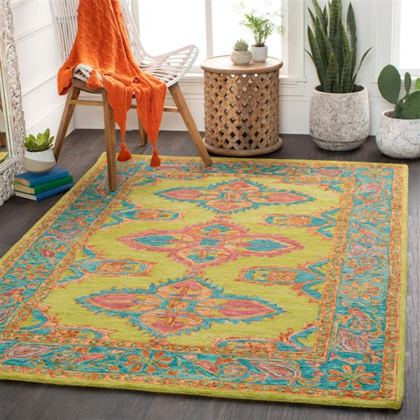 Surya Bonifate Bohemian Area Rug - 5-ft x 7-ft 6-in - Rectangular - Multi