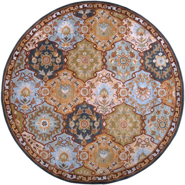 Surya Caesar Traditional Area Rug - 4-ft - Round - Blue