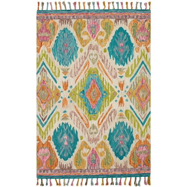 Surya Bonifate Bohemian Area Rug - 5-ft x 7-ft 6-in - Rectangular - Lime