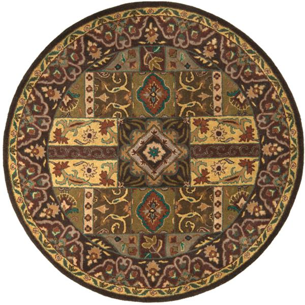 Surya Caesar Traditional Area Rug - 9-ft 9-in - Round - Olive