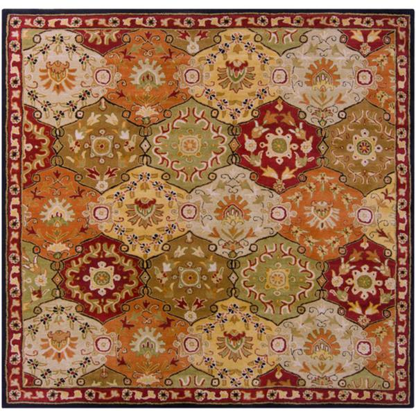 Surya Caesar Traditional Area Rug - 9-ft 9-in - Square - Burgundy