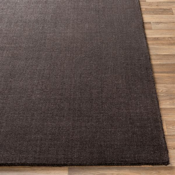 Surya Bari Solid Area Rug - 5-ft x 7-ft 6-in - Rectangular - Charcoal