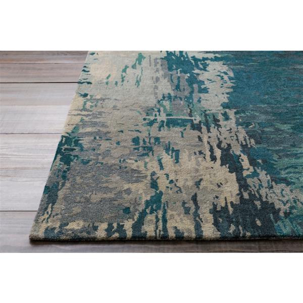 Surya Banshee Modern Area Rug - 5-ft x 8-ft - Rectangular - Teal