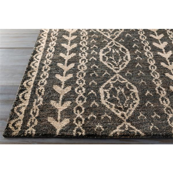 Surya Bjorn Bohemian Area Rug - 8-ft x 11-ft - Rectangular - Dark Brown