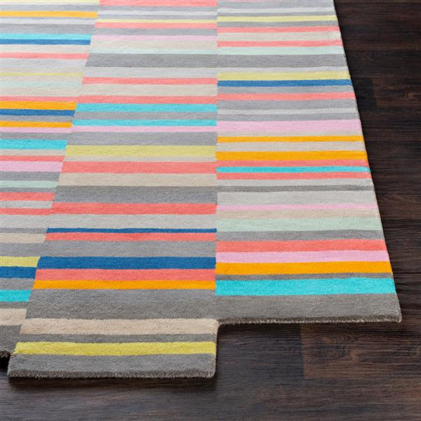 Surya Beck Modern Area Rug - 5-ft x 7-ft 6-in - Rectangular - Coral
