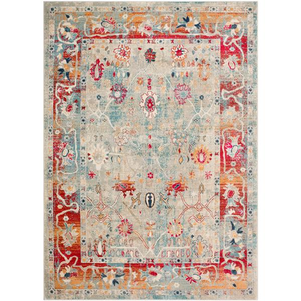 Surya Bohemian Updated Traditional Area Rug - 5-ft 3-in x 7-ft 6-in - Rectangular - Multi