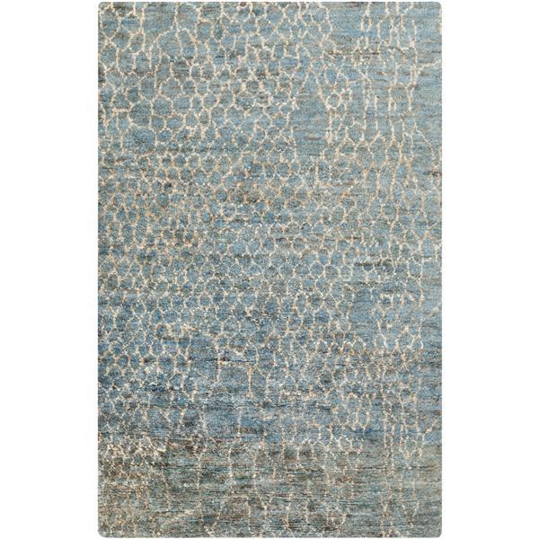 Surya Bjorn Natural Fiber Area Rug - 6-ft x 9-ft - Rectangular - Blue