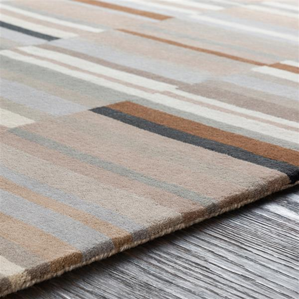 Surya Beck Modern Area Rug - 5-ft x 7-ft 6-in - Rectangular - Brown