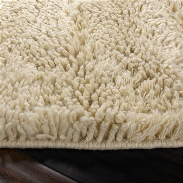 Surya Berkley Shag Area Rug - 8-ft - Round - Cream