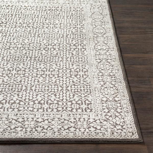 Surya Bahar Updated Traditional Area Rug - 5-ft 3-in x 7-ft 3-in - Rectangular - Charcoal