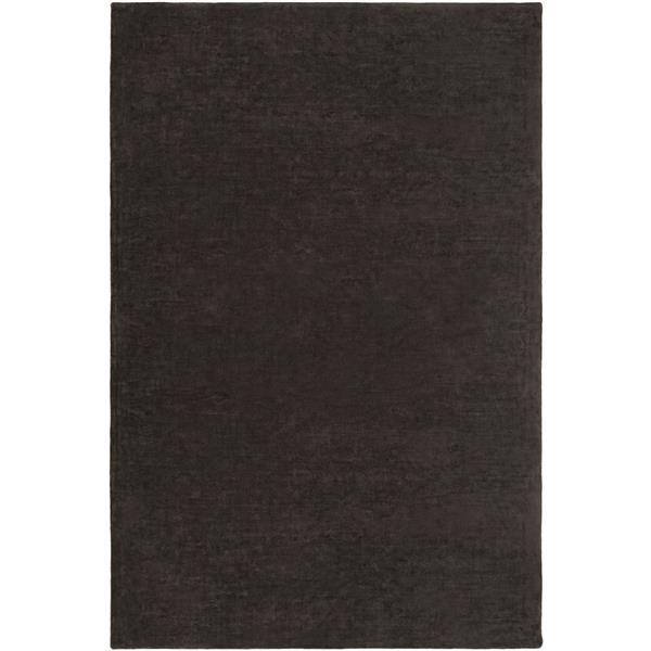 Surya Bellatrix Solid Area Rug - 6-ft x 9-ft - Rectangular - Black