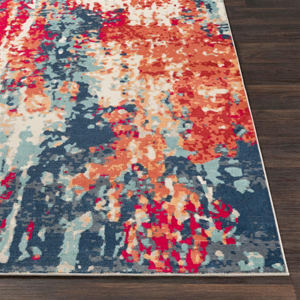 Surya Bohemian Modern Area Rug - 9 ft x 13 ft 1-in - Rectangular - Red