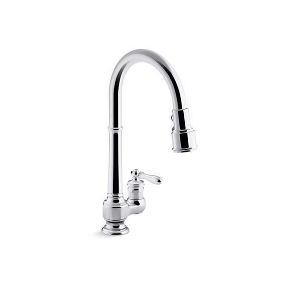 KOHLER Artifacts Single-Hole Kitchen Sink Faucet - Chrome