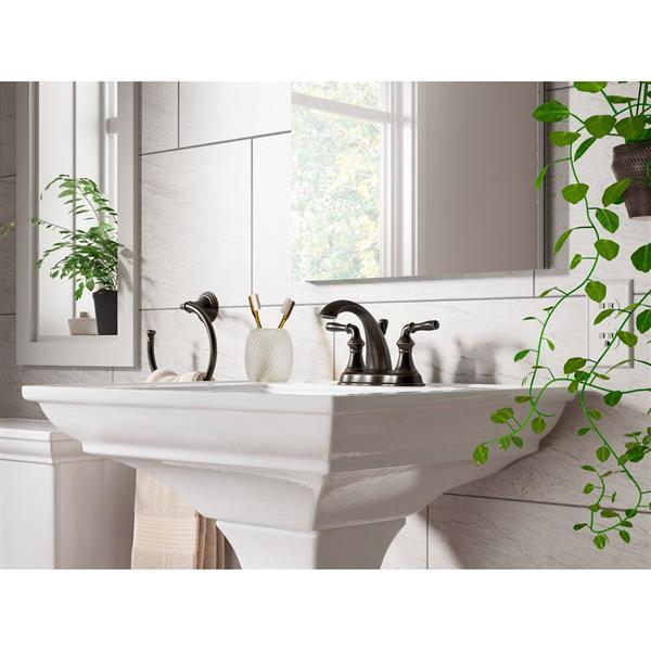 KOHLER Devonshire Widespread Bathroom Sink Faucet with Lever Handles - Chrome