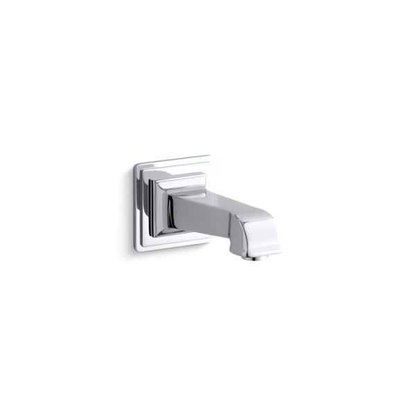 KOHLER Pinstripe Pure Wall-Mount Non-Diverter Bath Spout - Chrome