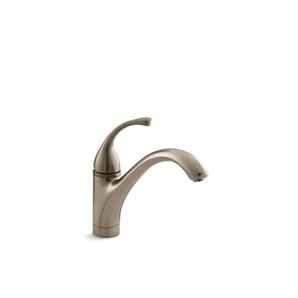 KOHLER Forté Single-Hole Kitchen Sink Faucet - Bronze