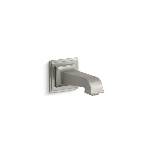 Bec de baignoire sans inverseur mural Pinstripe Pure de KOHLER, nickel