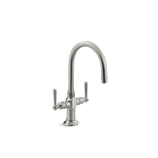 Kohler Hirise Single Hole Bar Sink Faucet With Lever Handles Stainless Steel 7342 4 Bs Rona