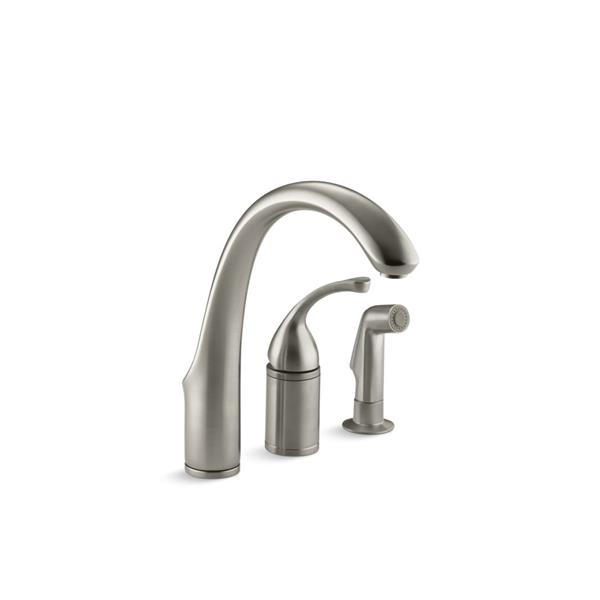 KOHLER Forté Single-Hole or 3-Hole Kitchen Sink Faucet - Nickel