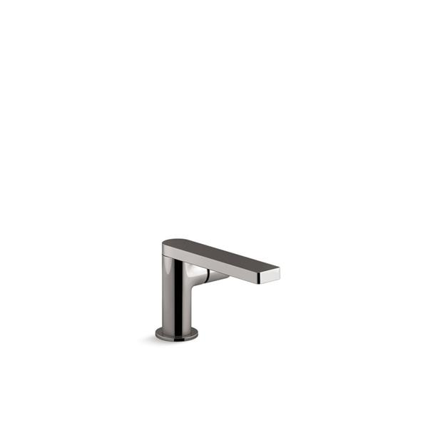 KOHLER Composed Single-Handle Bathroom Sink Faucet with Pure Handle - Grey