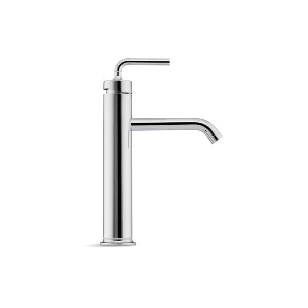 KOHLER Purist Tall Single-Handle Bathroom Sink Faucet - Gold