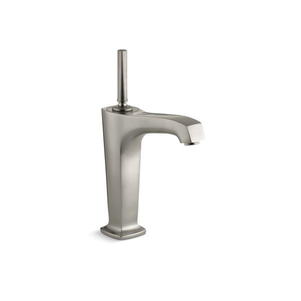 KOHLER Margaux Tall Single-Hole Bathroom Sink Faucet - Nickel