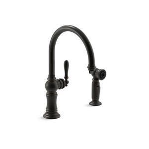 KOHLER Artifacts 2-Hole Kitchen Sink Faucet