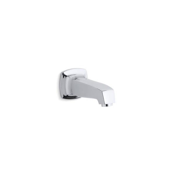 Bec de baignoire sans inverseur mural Margaux de KOHLER, chrome