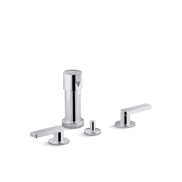 KOHLER Composed Widespread Bidet Faucet with Lever Handles - Chrome