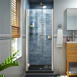 """DreamLine Lumen Shower Door and Base - 34"""" x 42"""" - Nickel"""