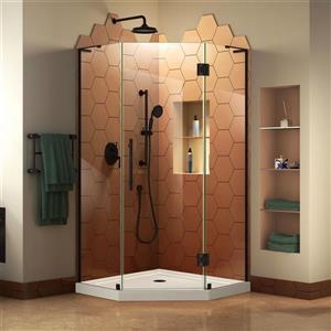 """DreamLine Prism Plus Shower Enclosure/Base Kit - 38"""" - Black"""