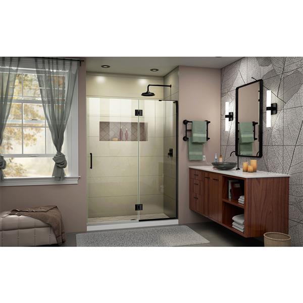 """DreamLine Frameless Hinged Tub/Shower Door - 53"""" - Black"""