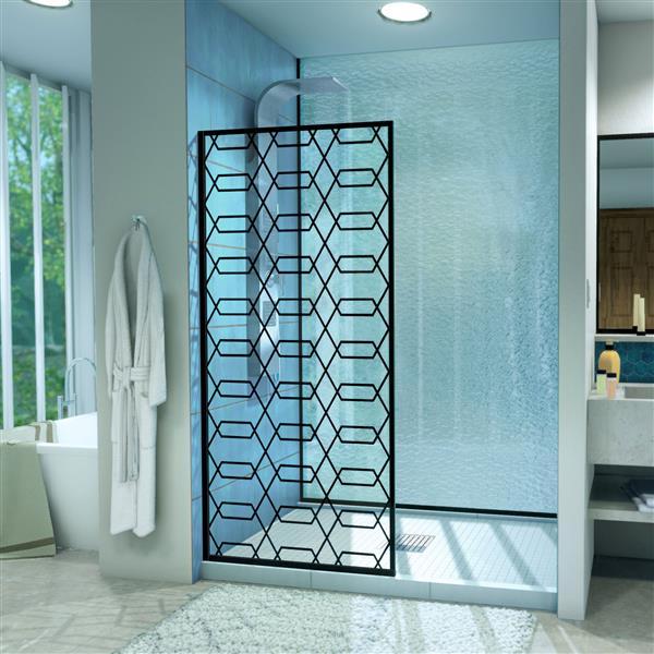 """DreamLine Linea Maze Shower Door - 34"""" - Black"""