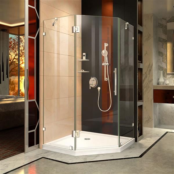 "DreamLine Shower Enclosure and Base Kit - 38"" - Chrome"