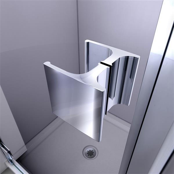 "Porte/base de douche semi-encastré DreamLine, 36"", chrome"