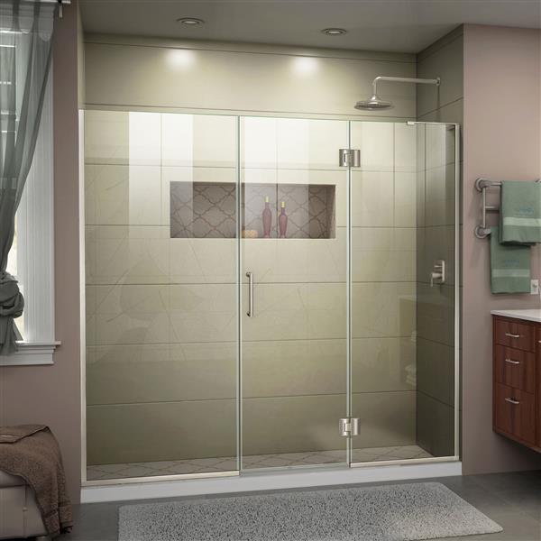 """DreamLine Unidoor-X Shower Door - 61"""" - Nickel"""