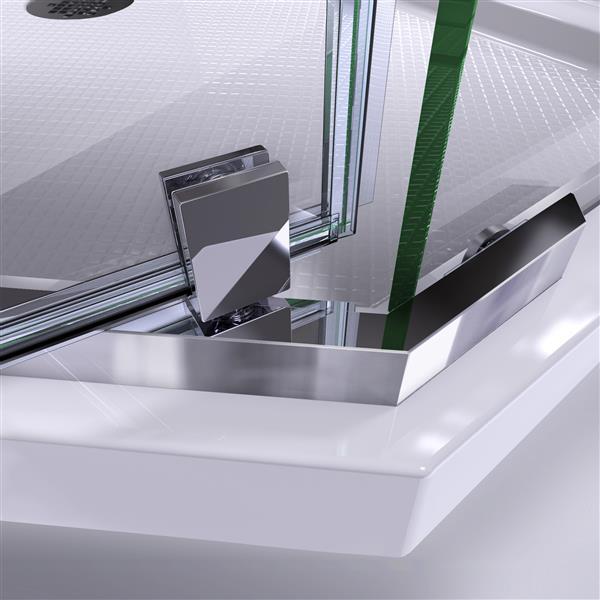 """DreamLine Prism Shower Enclosure Kit - 42"""" - Nickel"""