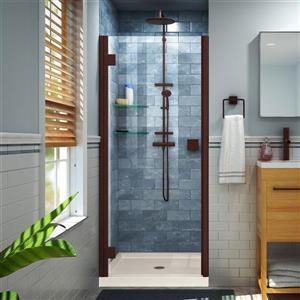 """DreamLine Lumen Semi-Framed Shower Door/Base - 42"""" - Bronze"""