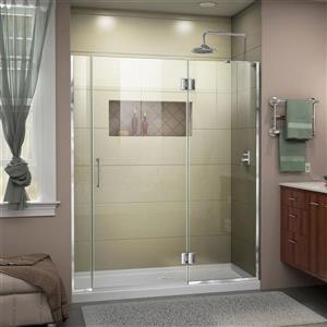 """DreamLine Frameless Hinged Tub/Shower Door - 58"""" - Chrome"""